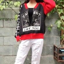 ZIYAO короткие свободные кардиганы с длинным рукавом Повседневный свитер верхняя одежда Зимний трикотаж для женщин и девочек специальная толстая теплая куртка спортивный стиль