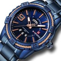 NAVIFORCE Watches Men Luxury Brand Sport Full Steel Quartz Watch Men S Waterproof Military Wrist Watches