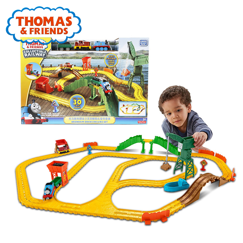 Thomas & Friends Electric Series Mini Car Toy Magnetic Matel Train Track Brinquedos Brendam Docks Deluxe Set Thomas Toy For Kids