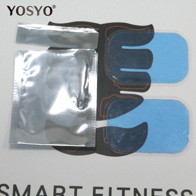 2pcs(1 pair)Replacement gel pads Muscle Trainer Replacement Massager Gel Sheet Muscle Stimulator Exerciser Pad Accessories 5