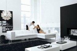 بقرة أريكة جلدية أصلية مجموعة أثاث غرفة المعيشة الأريكة أريكة غرفة المعيشة أريكة الاقسام/ركن أريكة على شكل L أثاث المنزل