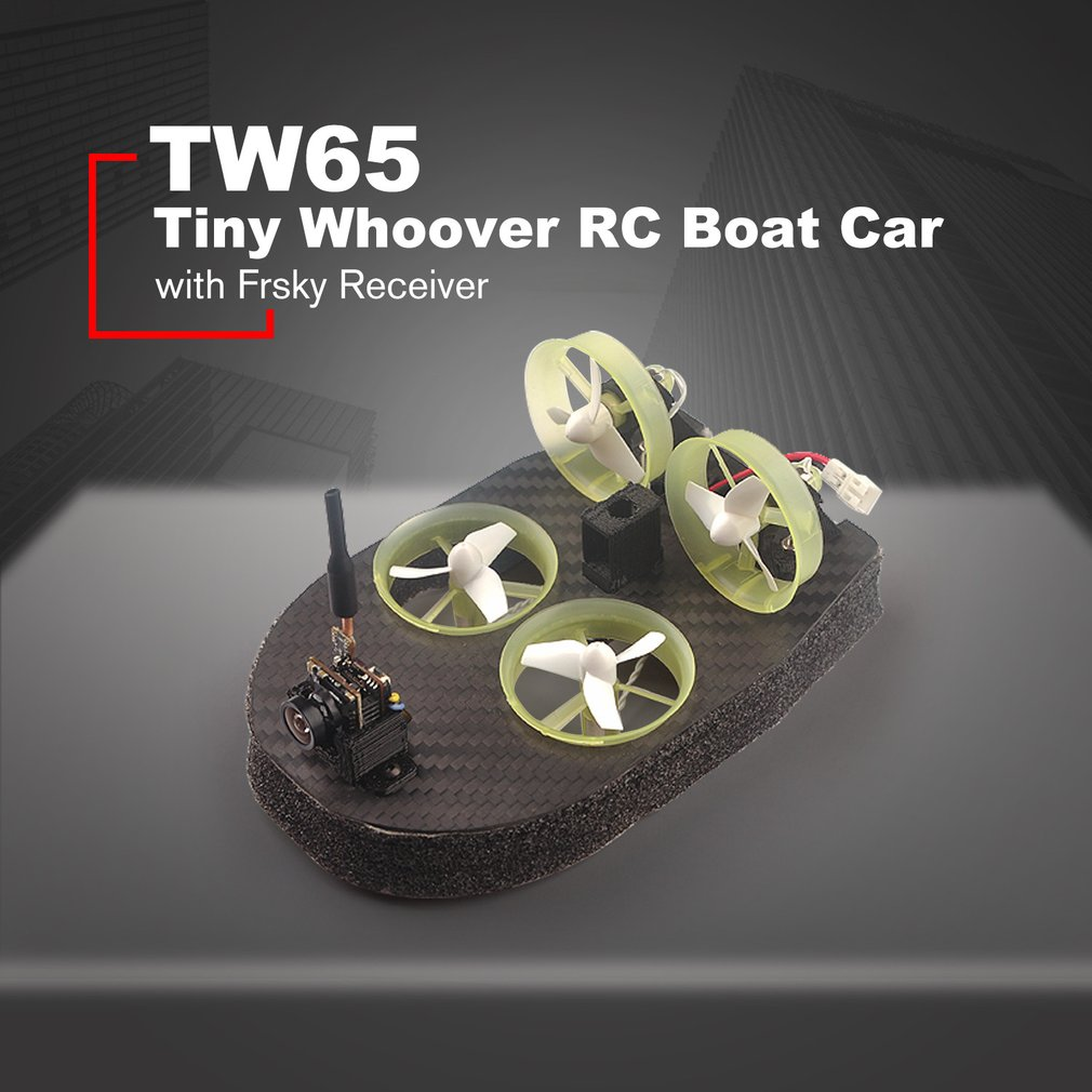 Tiny whoover TW65 Hovercraft Racing Drive Car Truck Integrated with Frsky FPV Receiver OSD LED RC DIY Racer Quadcopter Frame Kit