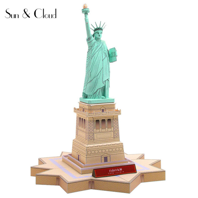 3D Estatua de la libertad americana arquitectura modelo de papel ...