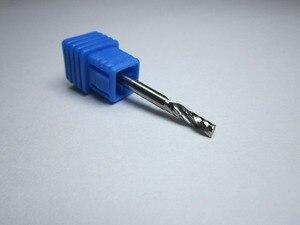 """Image 5 - סיטונאי קוטר 1 מ""""מ 1.5mm 2mm 2.5mm 3.175mm טונגסטן קרביד אחת 1 חליל סוף מיל כרסום חותך CNC Bits עבור אקריליק"""