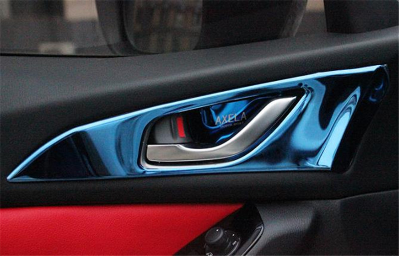 Car styling stainless steel Interior interior door handle trim frame trim For 2017 <font><b>2018</b></font> <font><b>Mazda</b></font> <font><b>3</b></font> Axela <font><b>accessories</b></font> image