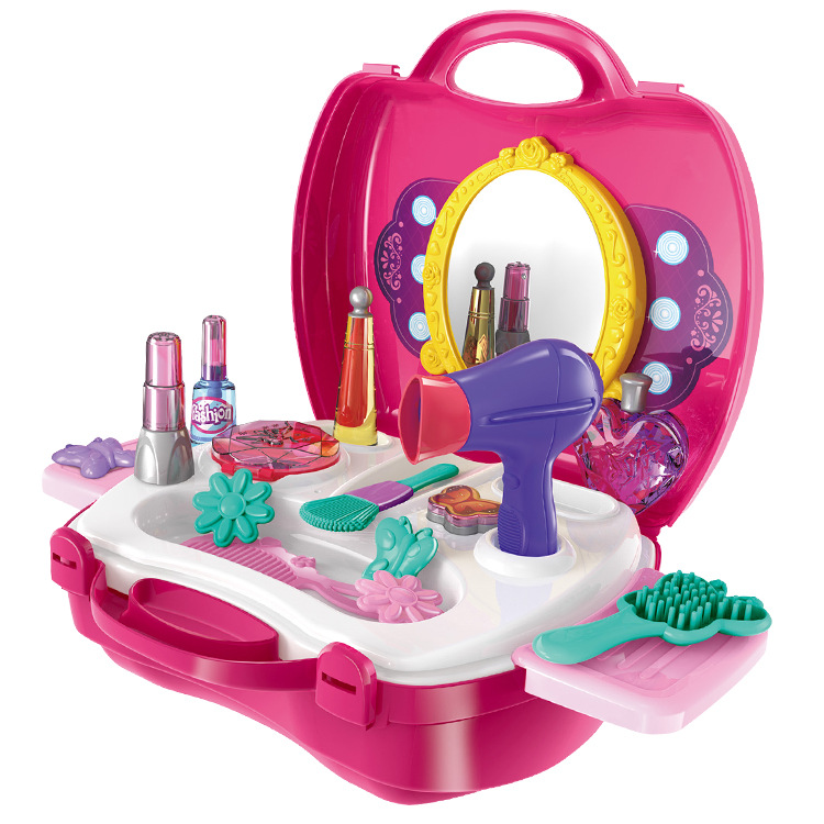 21 PCS Simulation Cosmetic Case Baby Kids Girls Makeup Tool Kit ...