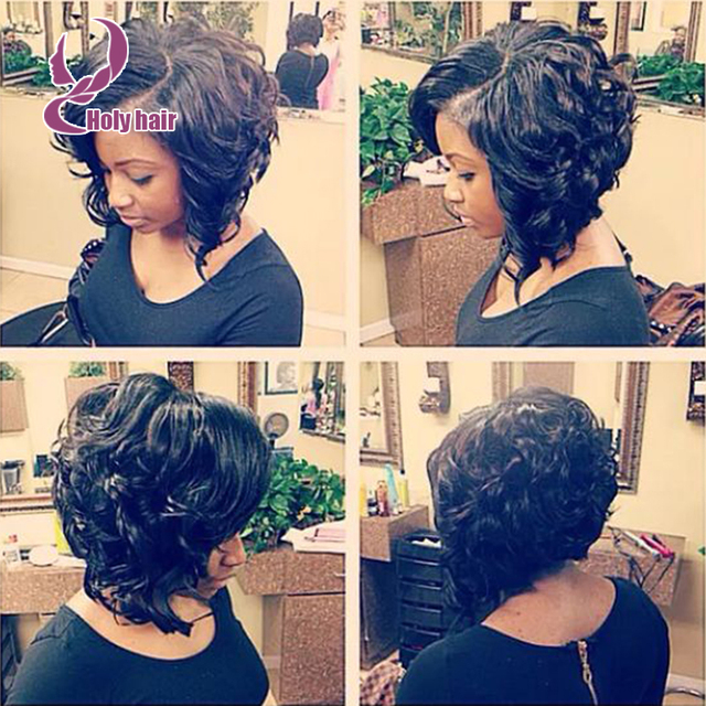 Hot Bob Cut Wigs Short Curly Human Hair Wigs For Black Women Short