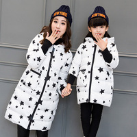 Dollplus Mother And Daughter Clothes Fashion Mom And Daughter Star Pattern Coat Family Matching Outfits Mommy