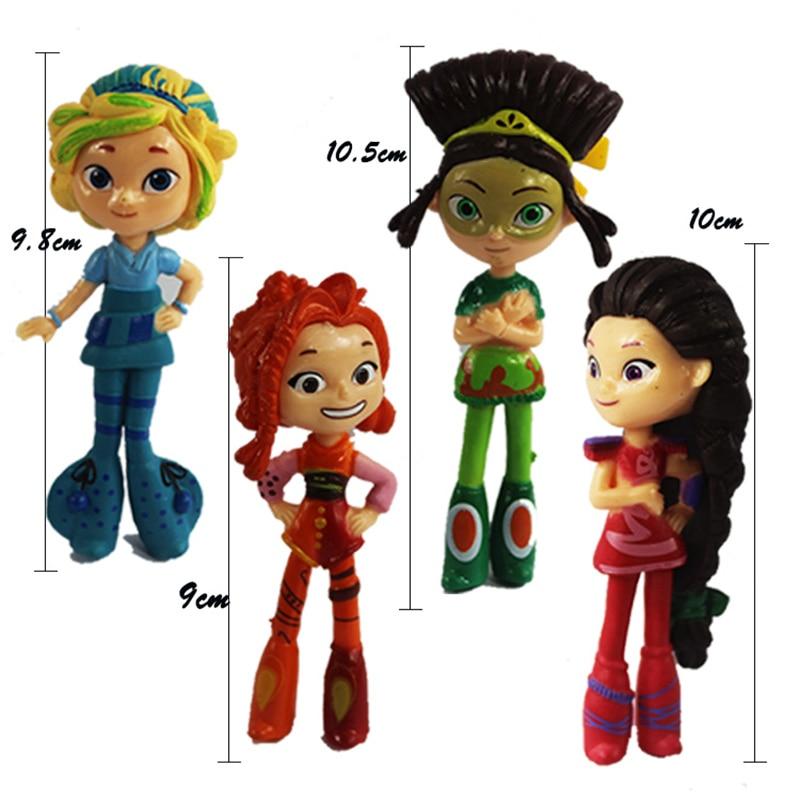 4pcs/1lot Princess Matryoshka Fairy Patrol 10cm #3754 Action Figures PVC Doll Collection Model Toys Gifts