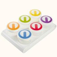 6ピース/セットリアル母乳収納袋ホット販売赤ちゃん食品容器フルーツ子ポータブルボックスsサイズdoseurオレ