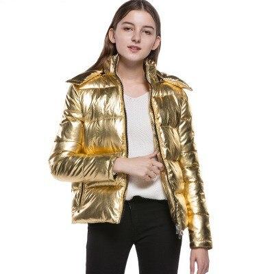 Mujer Chaud Pain Court Coton Bomber Veste Vers Tinteen Automne Gc182 Style Rembourré 2018 Gold Bas Chaqueta Nouvelle Femmes Parkas Le D'hiver Mode qOpHXA