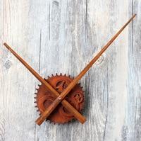 Vintage Old Rust DIY Clock Big Pointer Gear Creative Gear Wall Clock