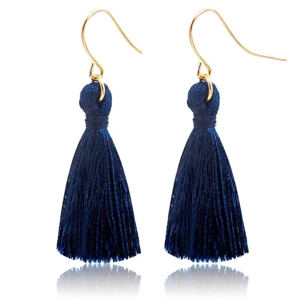 חוט ארוך טאסל עגילי ריינסטון Drop הצהרת פרינג 'עגילים לנשים