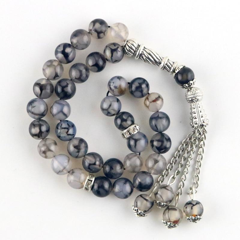 Natural agate round decorative beads/Islamic rosary beads/Muslim Tasbia