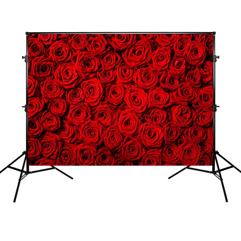 Red Rose Background Wedding Theme Photography Backdrops Mother S Day Photographic Banner Backgrounds For Mother Background Aliexpress