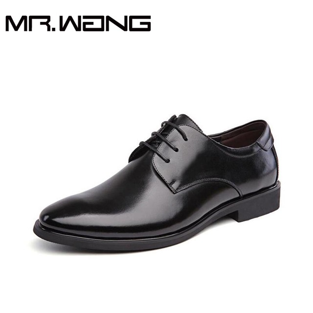 2017 Brand  New Arrival  Men Oxfords Classic Black Dress Wedding Shoes Top Quality Men Business Casual Leather Shoes DD-32