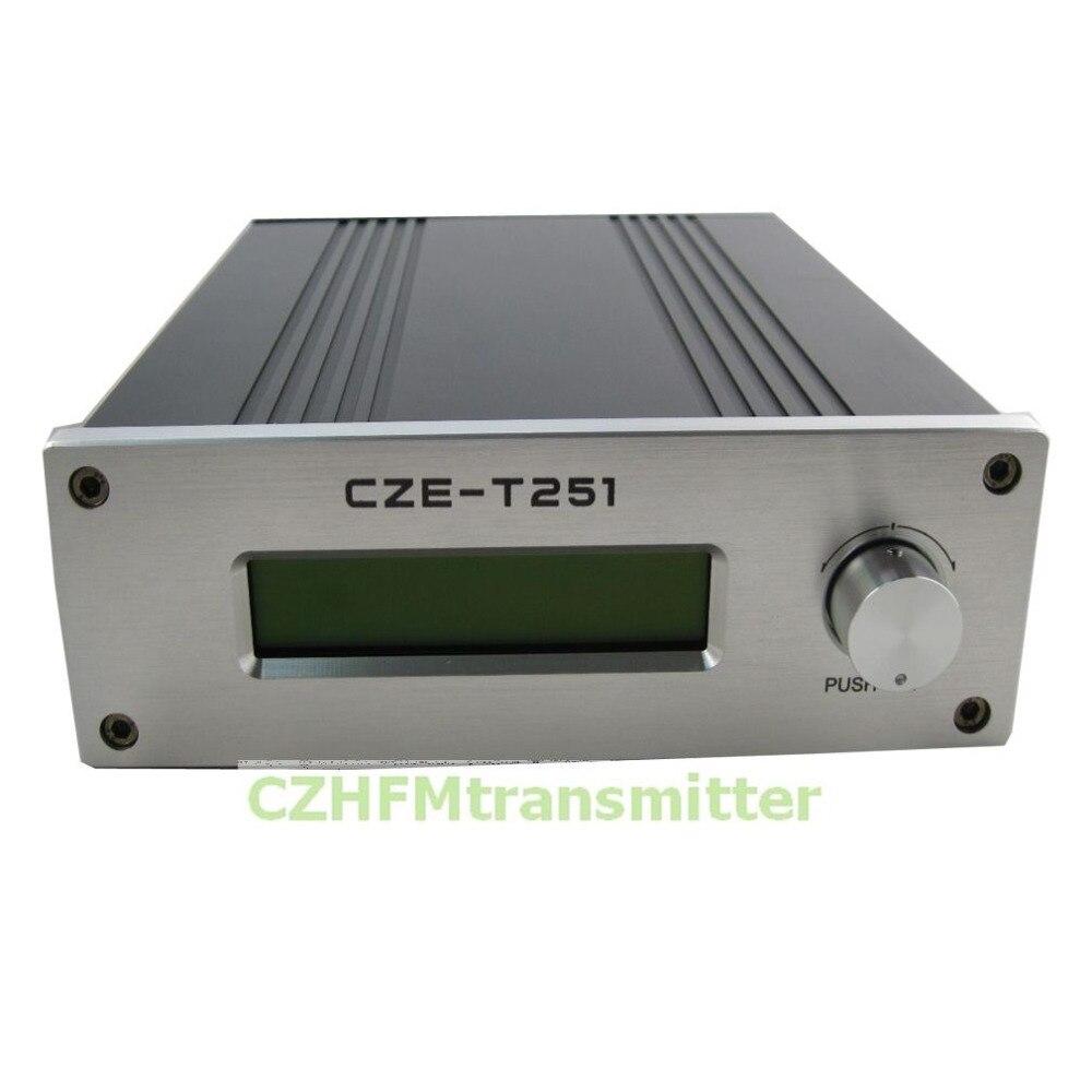 CZH CZE T251 0 25W power adjustable Professional FM stereo broadcast transmitter +car antenna|Radio & TV Broadcast Equipments|Consumer Electronics - title=