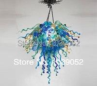 Neue Bunte Kunst Blume Bernstein Glas Kronleuchter Beleuchtung|Kronleuchter|Licht & Beleuchtung -