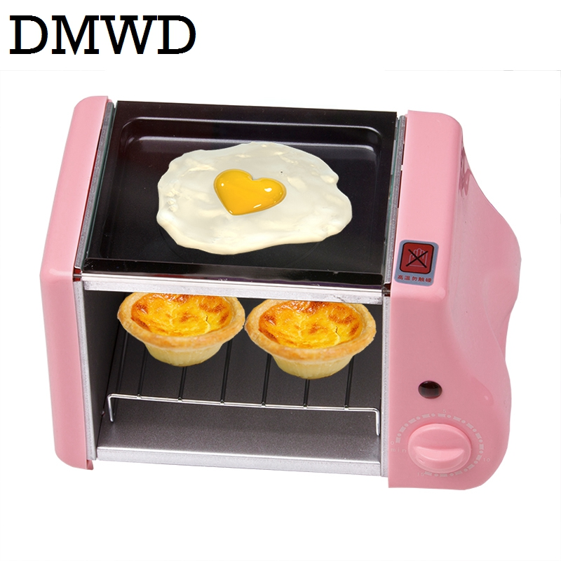 Multifunções mini forno assado de padaria elétrica grill ovos fritos omelete frigideira máquina de café da manhã pão fabricante torradeira
