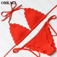 OMKAGI Brand Bikini Swimwear Women Swimsuit Bathing Suit Sexy Bikinis Set Push Up Swim Wear Swim