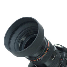 77mm Three-in-1 Three-Stage Collapsible Rubber Lens Hood for All digital digicam free transport