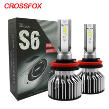 CROSSFOX Auto Lamp Headlight Bulb LED H7 H4 H11 H1 H8 H9 9005 HB3 9006 HB4 LED 12V 6000K Car Light CSP Chips Automobile Styling(China)
