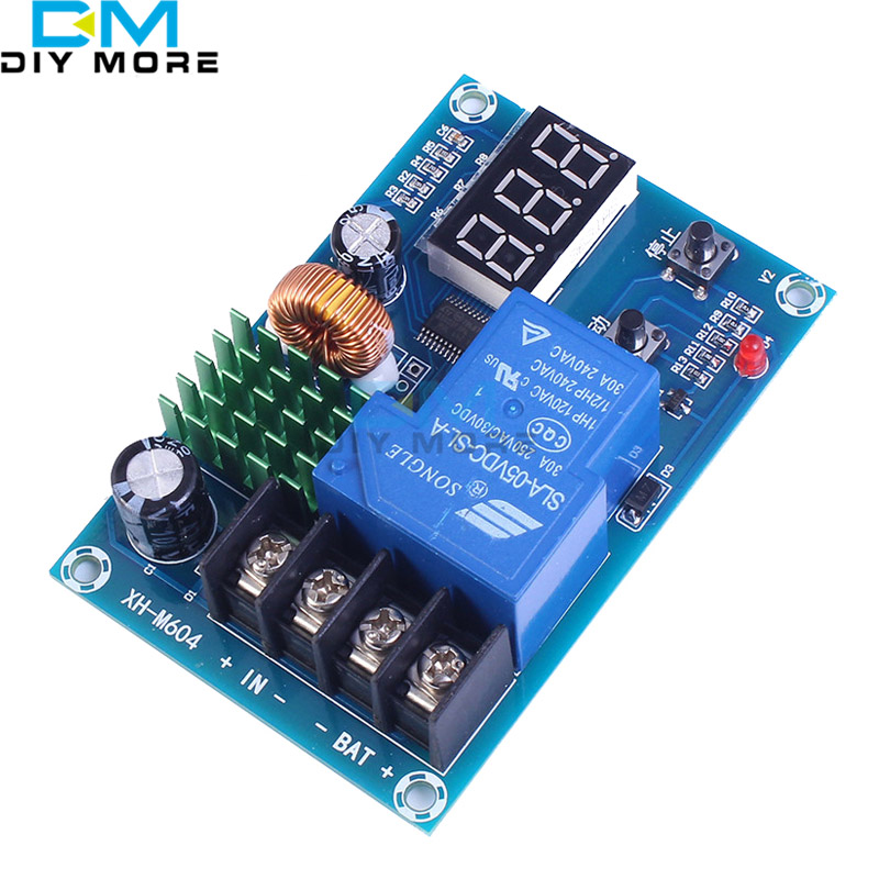 XH-M604 Battery Charger Control Module DC 6-60V Storage Lithium Battery Charging Control Switch Protection Board 4s 8a li ion lithium battery charger protection board 3 7v 14 8v 4 serial pcb charging protection module overcharging protection