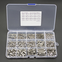 480pcs Assorted M2 M3 M4 Stainless Steel Screws Hex Socket Head Cap Nut Set With Box