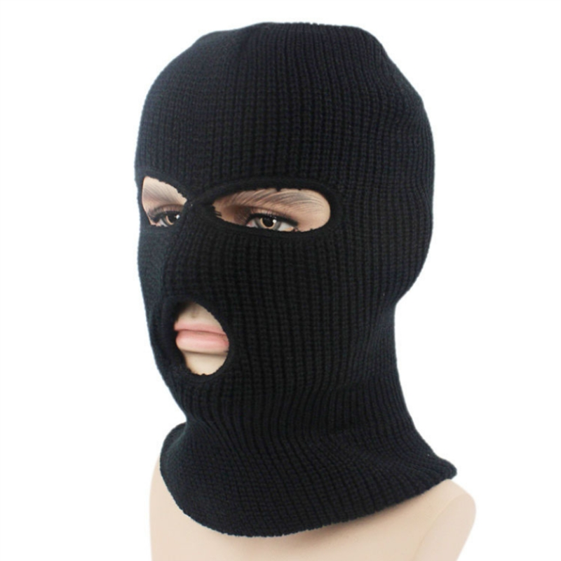 NEW Three Hole Mask CS Hat Knitting Headgear Windbreak Headgear Outdoors Tactic Ride Hiking Mask Balaclava Ski Mask DustproofHat