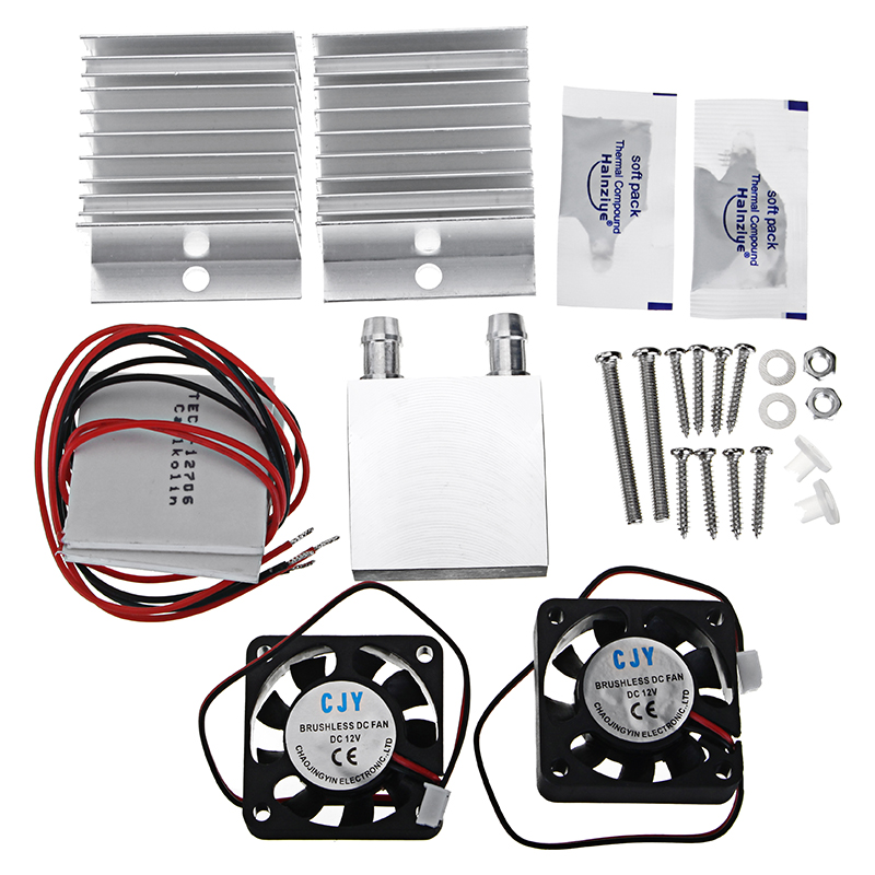 DIY New Thermoelectric Peltier Refrigeration Cooling System Equipment Semiconductor Refrigerating Film Water Cooling System KitDIY New Thermoelectric Peltier Refrigeration Cooling System Equipment Semiconductor Refrigerating Film Water Cooling System Kit