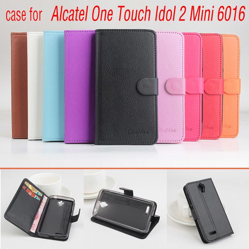 Phone case for Alcatel One Touch Idol 2 Mini 6016 About Flip Cover Mobile Phone Bags. Brand Hot Sale Factory price.