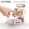 ECTOBE 10400mA Cargador Portable Del Banco Móvil Con Soporte Móvil de Reserva Externa Del Cargador de Batería para Móviles Tablet