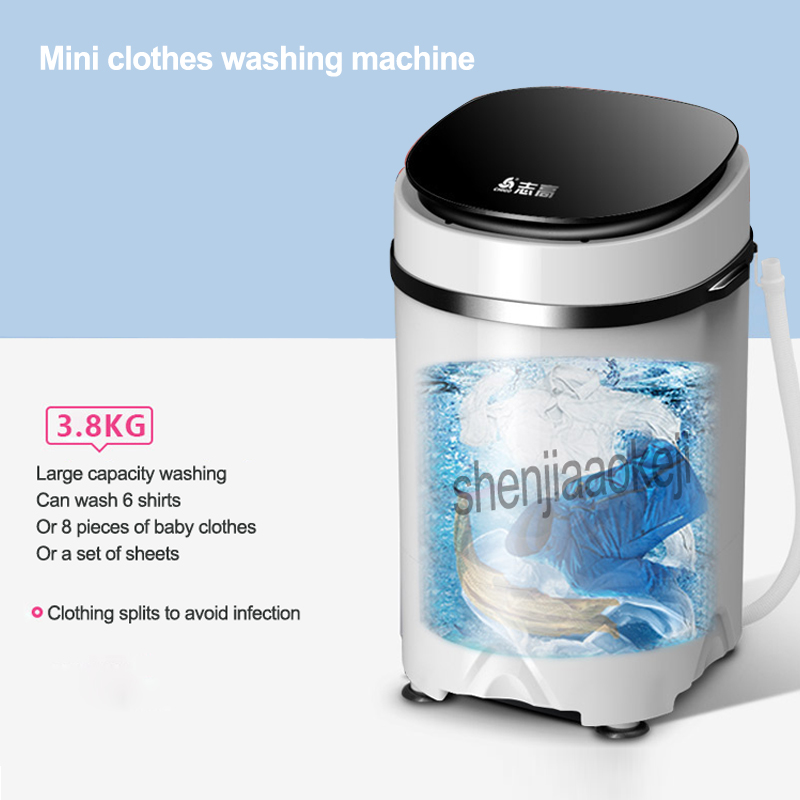 1pc 3.8kg Electric mini clothes washing machine High capacity Single Tub Semi-automatic Antibacterial garment washer 170W 220v 1pc 3.8kg Electric mini clothes washing machine High capacity Single Tub Semi-automatic Antibacterial garment washer 170W 220v