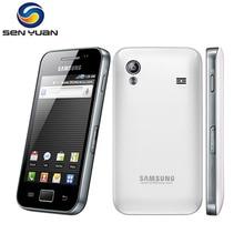 Orijinal Unlocked Samsung Galaxy ACE S5830 S5830i Cep Telefonu 3G Wifi GPS 5MP Kamera cep telefonu Ücretsiz Kargo