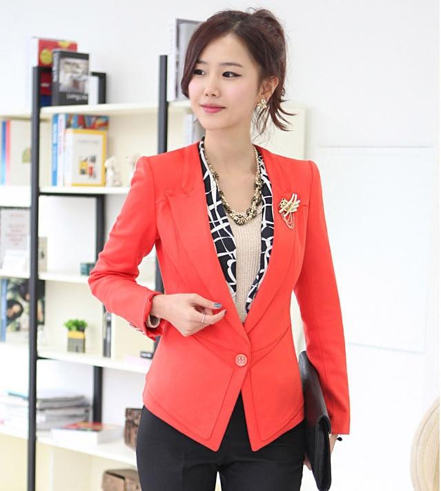 Popular Orange Blazer Women-Buy Cheap Orange Blazer Women lots ...