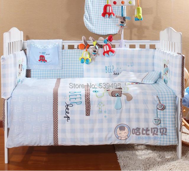 Bedding 7 peça definir desfazer completo e lavagem de algodão do bebê 100% algodão