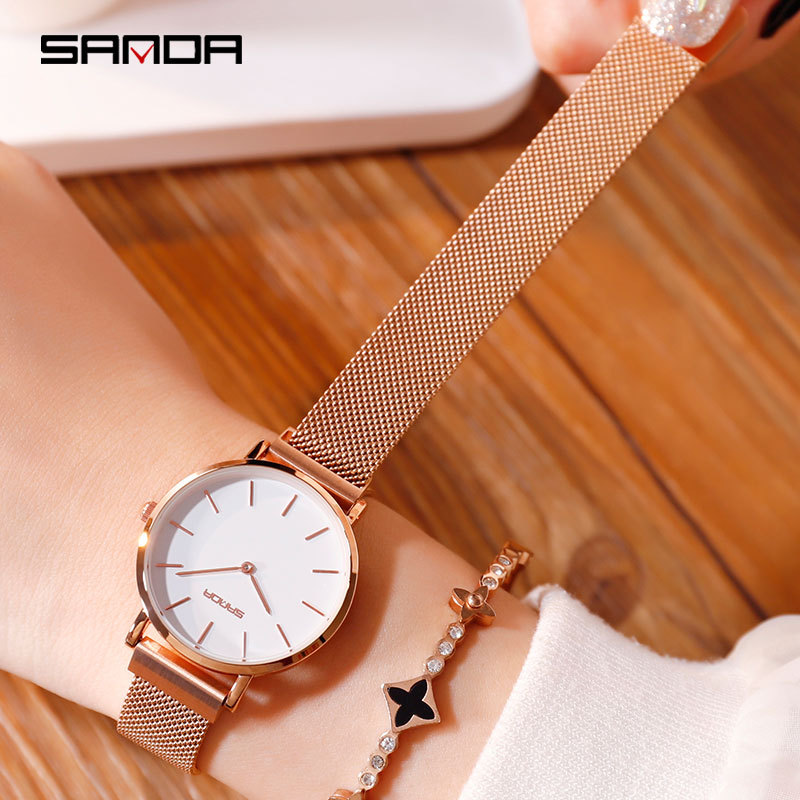Montre Femme 2019 Fashion Watch Women Luxury Brand Rose Gold Ladies Dress Wrist Watches Magnet Mesh Steel Waterproof Clock WomenMontre Femme 2019 Fashion Watch Women Luxury Brand Rose Gold Ladies Dress Wrist Watches Magnet Mesh Steel Waterproof Clock Women