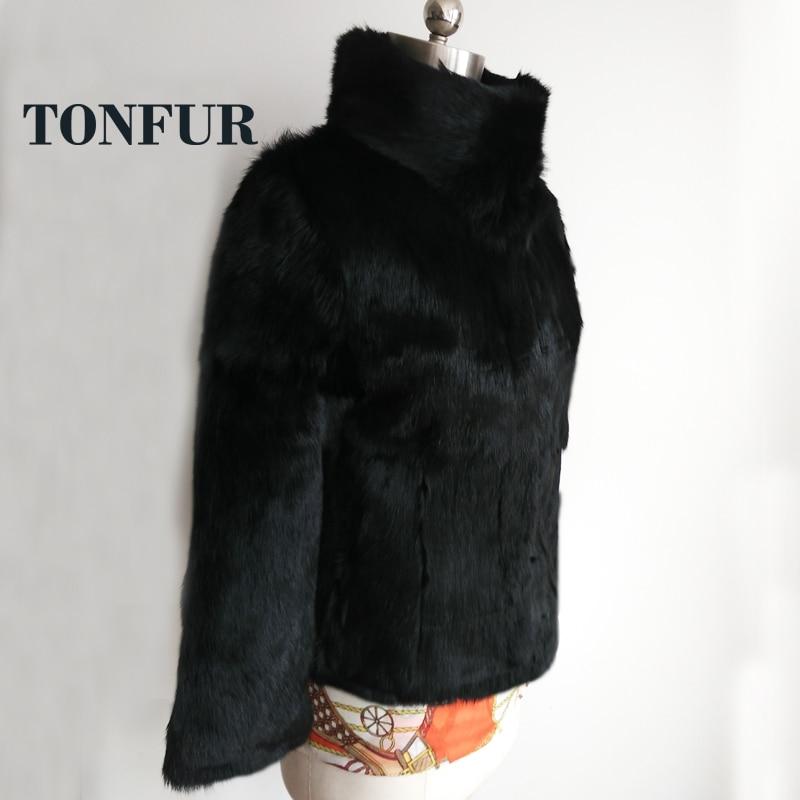 2019 Full Pelt Whole Skin 100% True Genuine Natural Rabbit Fur Short Coat Real OEM Fur Jacket Factory Customize Size TSR134