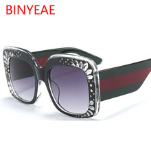 Oversize Square Frame Rhinestone Sunglasses 2018 Trending Women's Fashion