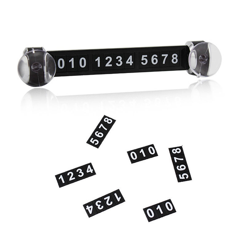 Universal Car Styling Sticker Parking Telephone Number Card Magnetic Puzzle Sign Temporary parking Sucker Contact Notice Card
