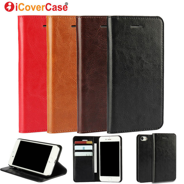 half off 473d0 45d3d Aliexpress.com : Buy For iPhone 7 7 Plus Case Retro Crazy Horse Genuine  Leather Wallet Cover for Apple iPhone 5 5s SE 6 6s 6 Plus 6s Plus Flip  Stand ...