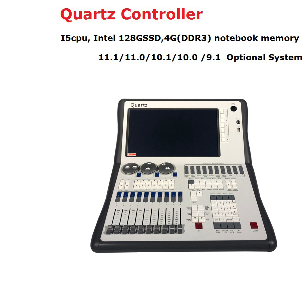 2019 nuevo sistema Titan 11,1 consola de cuarzo DMX512 controlador de iluminación de escenario para equipos DJ de iluminación de fiesta de discoteca