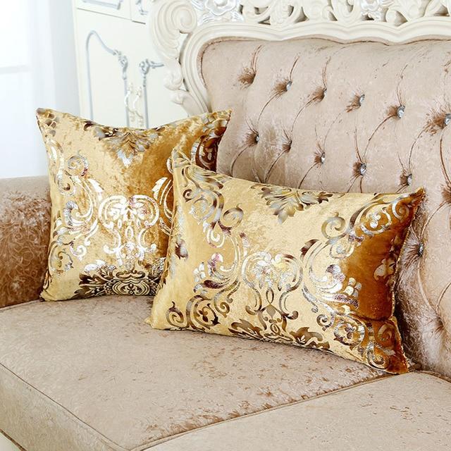 1 PZ Oro Bronzing Cuscino Lussuoso Velluto Home Decor Cuscino Copertura del Cusc