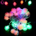 2015 HOT SALE 5M 28 LED Fuzzy Ball String Fairy Light Christmas Xmas holiday lights Decoration 100-220V EU Plug