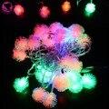 2015 HOT SALE 5M 28 LED Fuzzy Ball String Fairy Light Christmas Xmas holiday lights Decoration 100-220V EU Plug