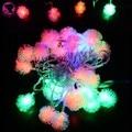 2015 VENDA QUENTE 5 M 28 LED Difuso Bola Fada Luz Cordas Natal Xmas luzes do feriado Decoração 100-220 V Plugue DA UE