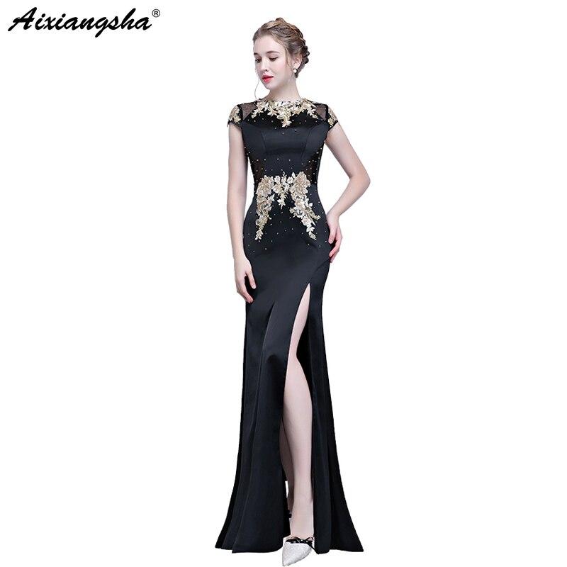 Abiti Da Cerimonia Donne 2018.Mermaid Prom Dresses 2018 Appliques Prom Dress Long Vestido Longo