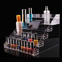 6 layer Multi function Large capacity Nail Polish Display Stand Acrylic Transparent Display Stand Cosmetic Storage Box Notch 5cm