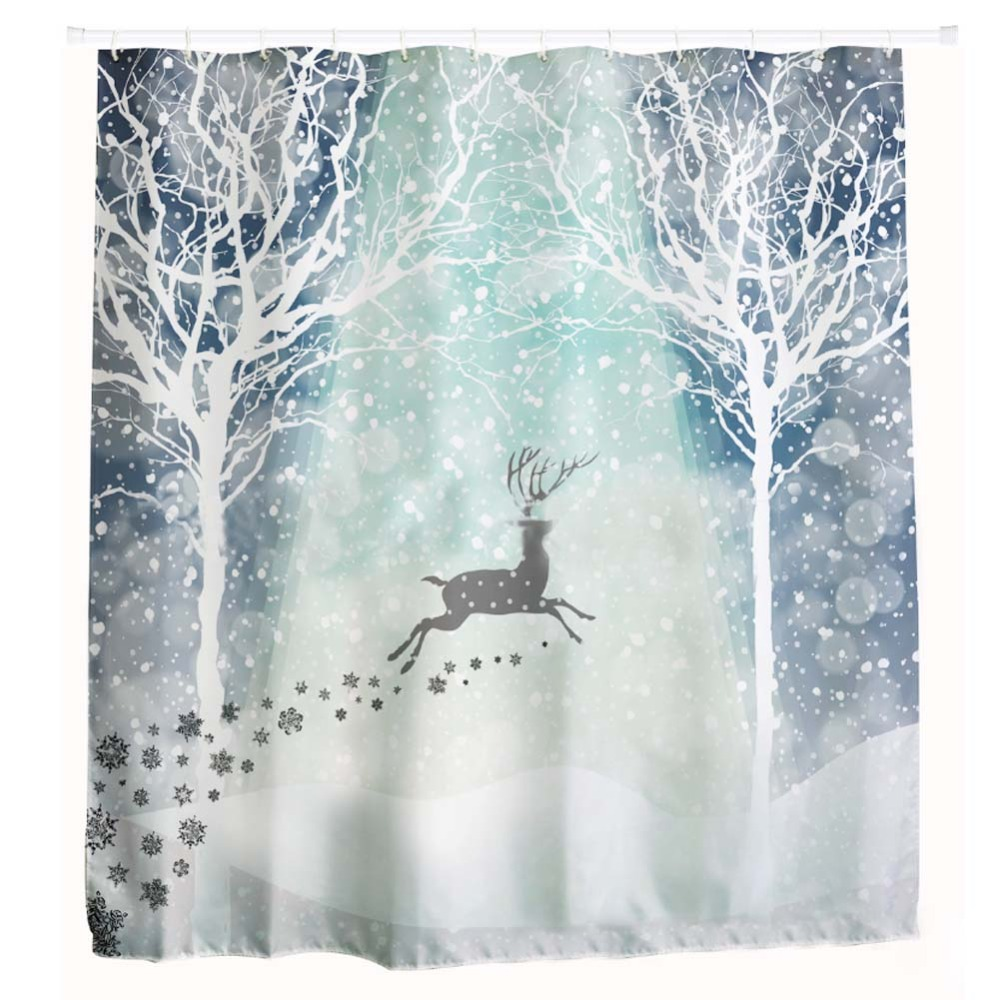 Cm leaping reindeer snowflakes christmas quot fabric