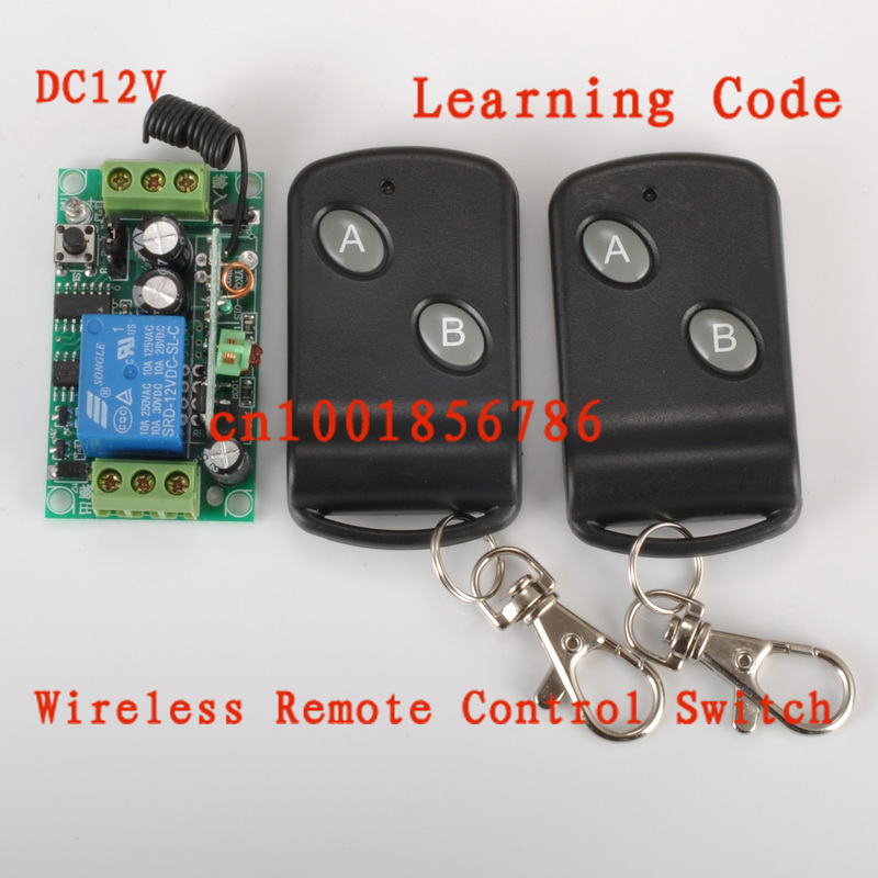 12V1CH RF wireless remote control switch system 2receivers&1 transmitter independently Momentary&Toggle adjustable.garage doors 2 receivers 60 buzzers wireless restaurant buzzer caller table call calling button waiter pager system